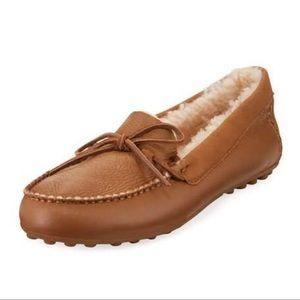 New UGG Deluxe Loafer Slipper, Chestnut Leather, 7